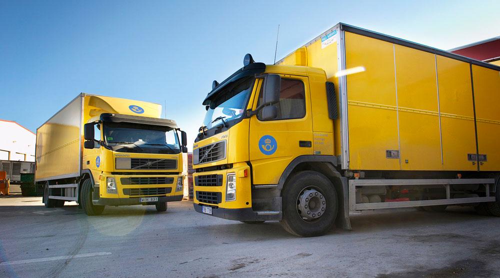 Lastbilar från Posten