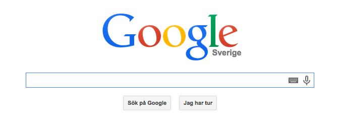 Googles sökruta