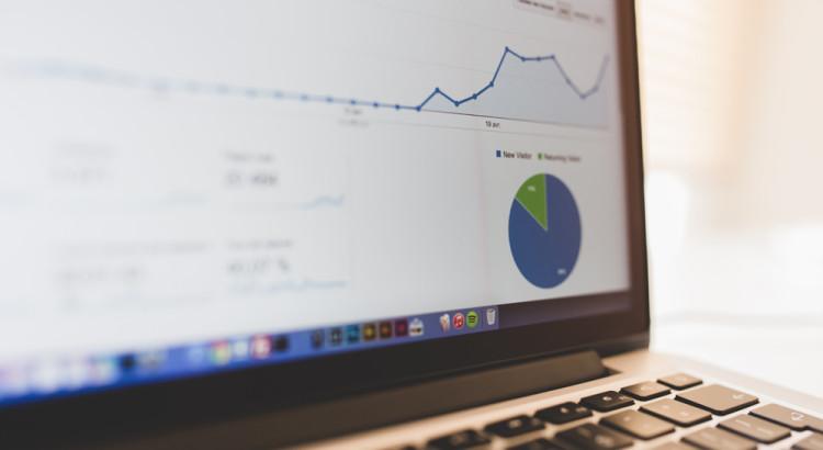 Dator med Google Analytics
